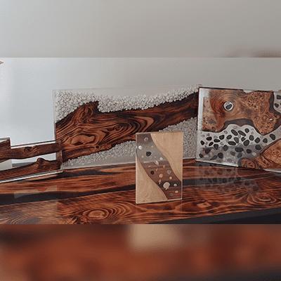 Tavoli Personalizzati Resina Ferro Legno Iron Make